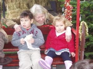 Granny with her beloved Grandchildren, Alice & Joseph